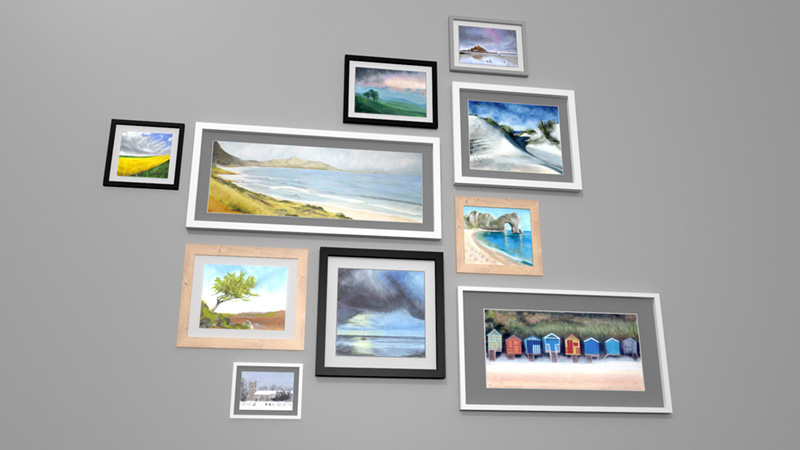 Picture Frames With Paintings